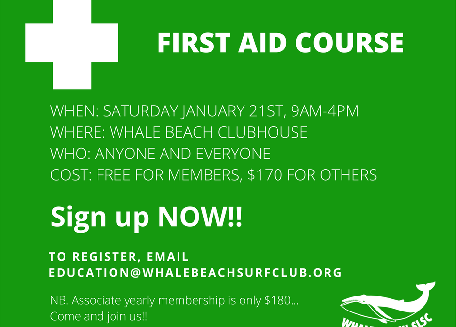 First Aid Course Jan 21st
