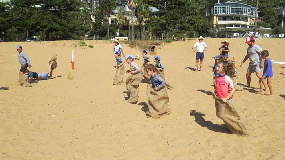 kids on the sand