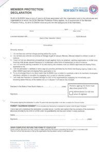 Member Protection Declaration