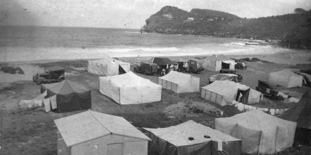 The Beginning - Whale Beach tents