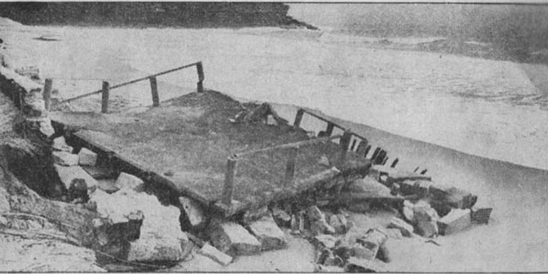 Building a clubhouse - Boatshed ruin 1966