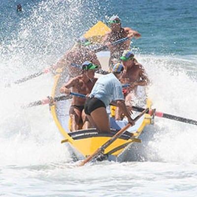 Surf Boat Action - Big Fish wave