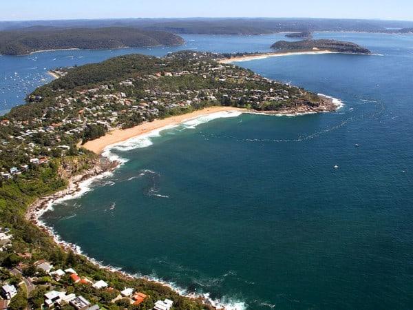 The Big Swim - Beaches aerial