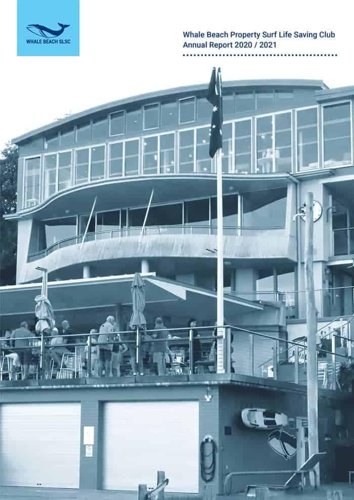 Whale Beach Property Surf Life Saving Club Annual Report 2020 2021